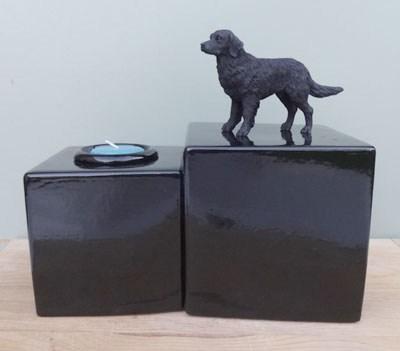 Labrador Retriever Urne mit Kerze