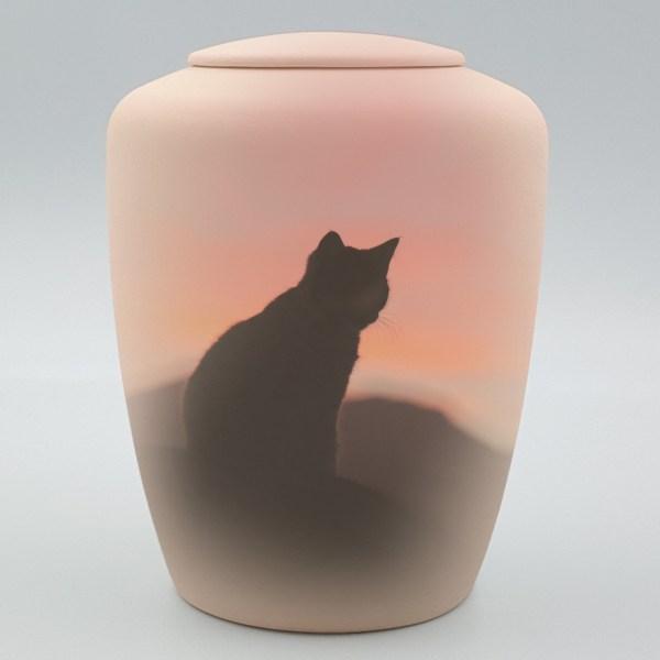 """Katzenurne mit Teelicht """"Katze im Abendrot"""""""