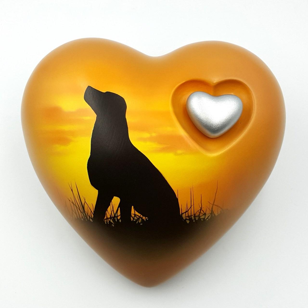 Herz Hundeurne Himmelhund UNIKAT