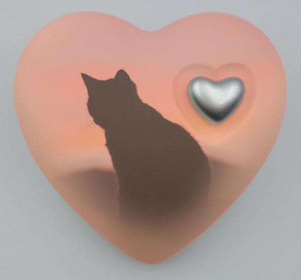 "Katzenurne Herz ""Katze im Sonnenaufgang"""