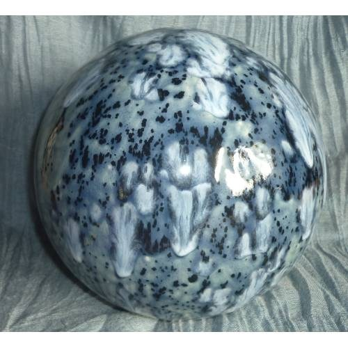 Tierurne Kugel Blau mit Effektlack
