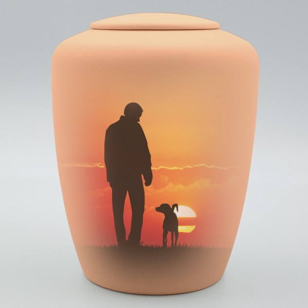 """Hundeurne mit Teelicht """"Abendspaziergang"""""""