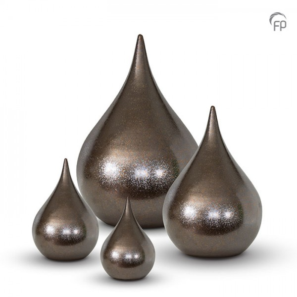Tierurne Bronzetropfen