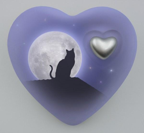 """Katzenurne Herz """"Katze im Mondschein"""""""