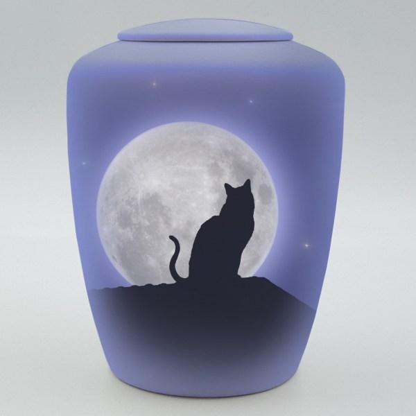 """Katzenurne mit Teelicht """"Katze im Mondschein"""""""