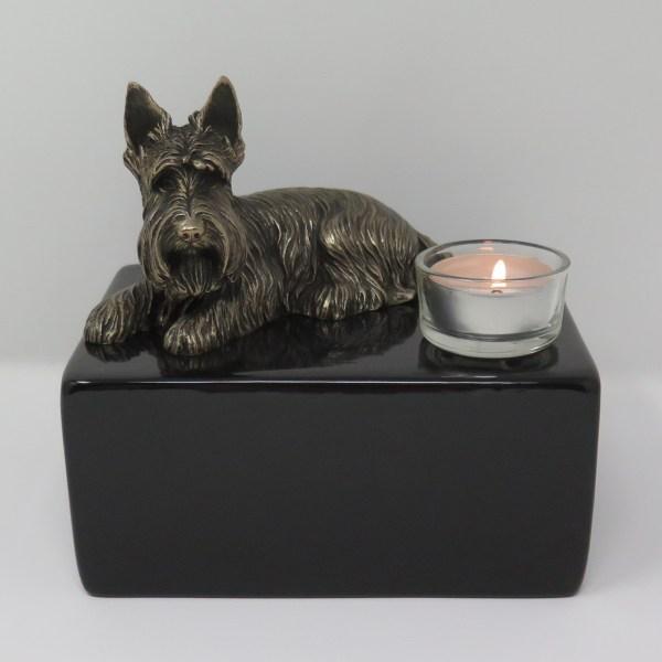 Scottish Terrier Urne mit Teelicht