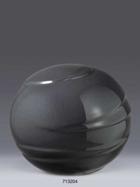 Porzellan-Kugelurne Schwarz