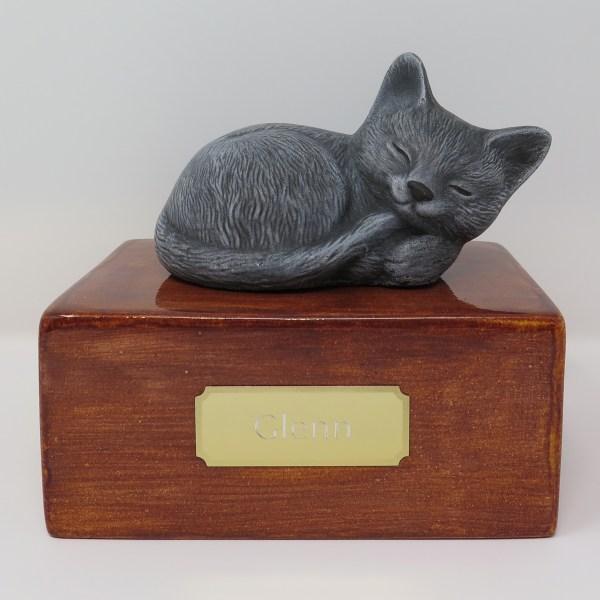 "Katzenurne ""Stonecat"" Grau-Sandel"