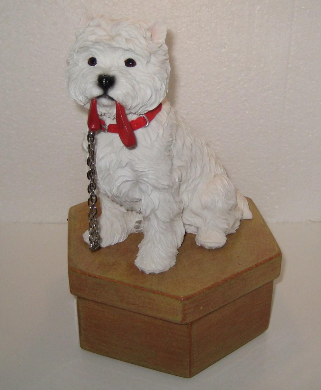 West Highland Terrier Urne UNIKAT
