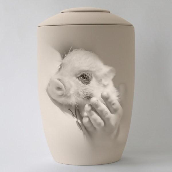 Minischweinurne mit Teelicht