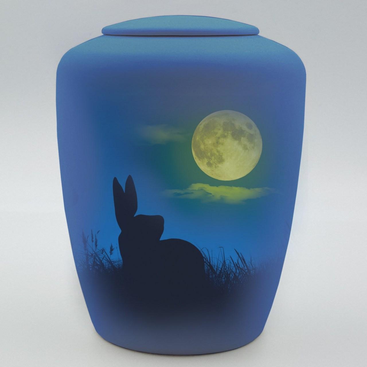 """Kaninchenurne mit Teelicht """"Kaninchen im Mondschein"""""""