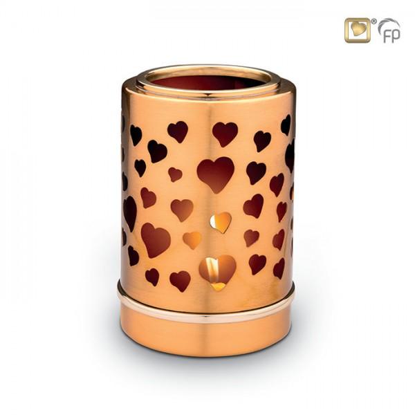 Tierurne mit Kerze