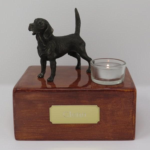 Beagle Urne mit Teelicht