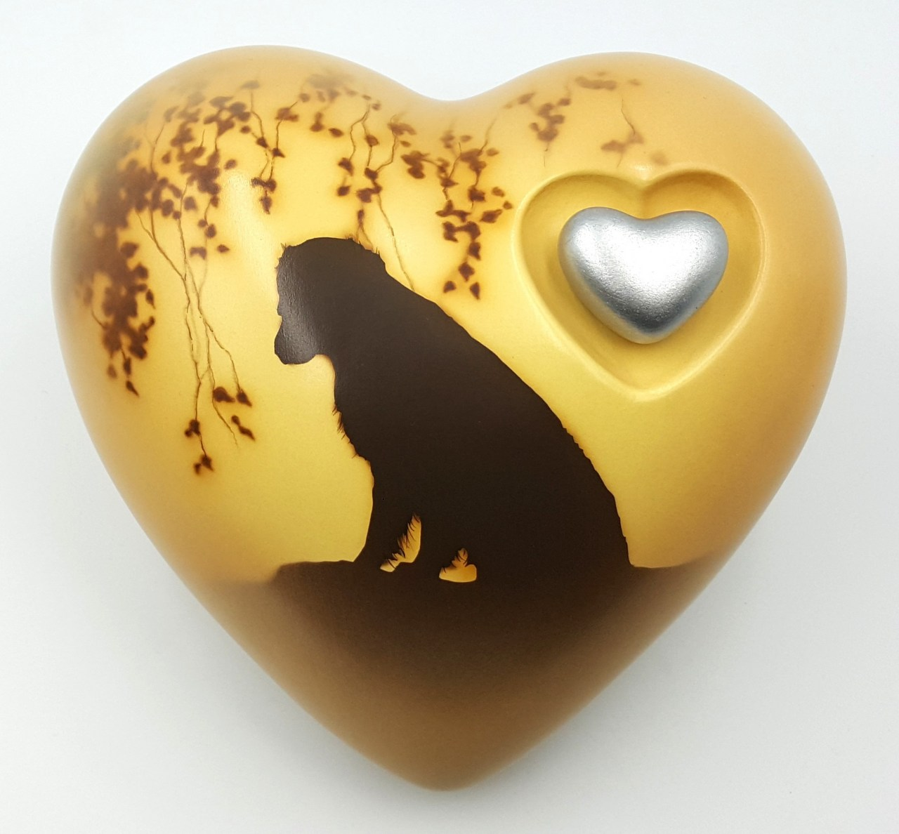 "Hundeurne Herz ""Hund auf Fels"""