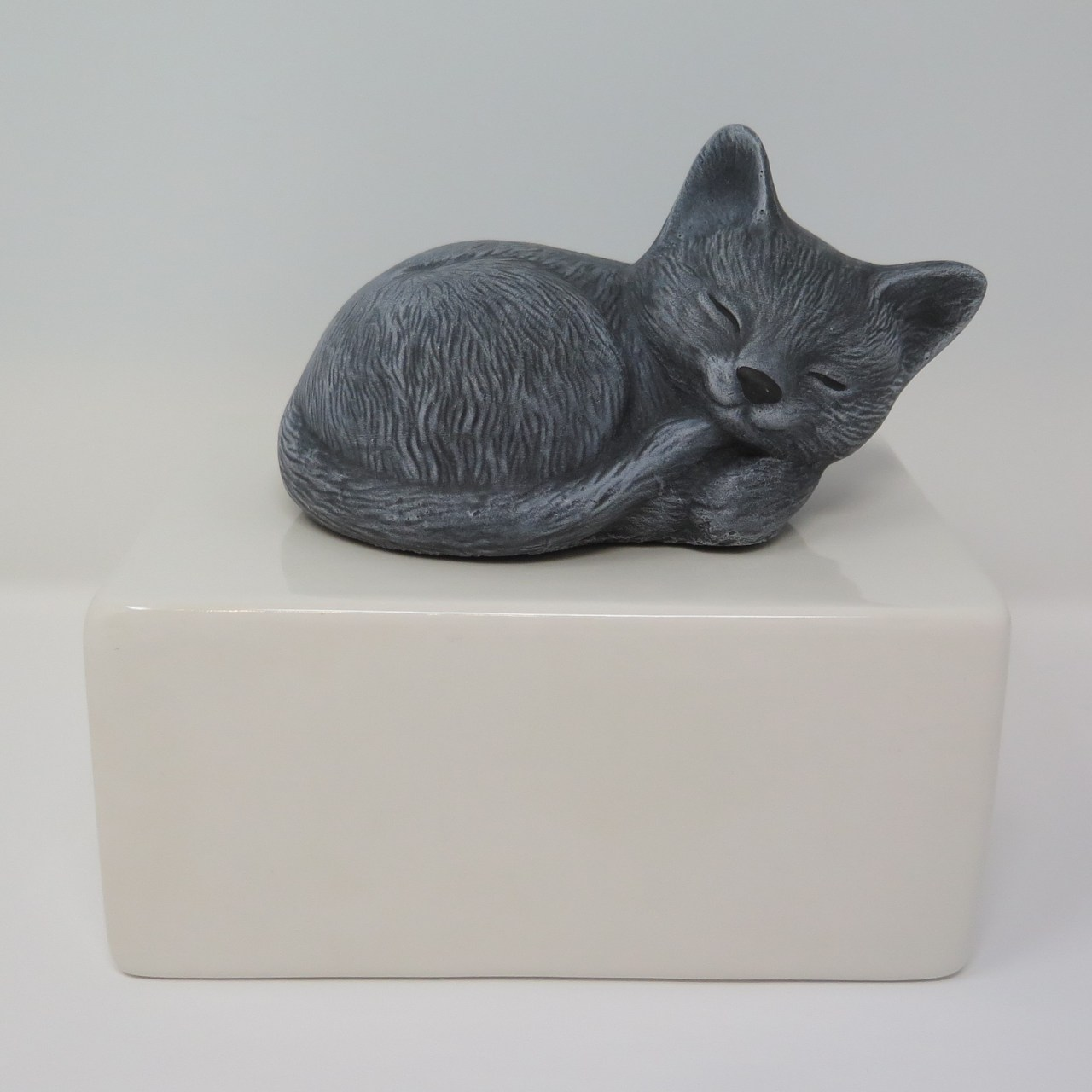 """Katzenurne """"Stonecat"""" Grau-Weiß"""