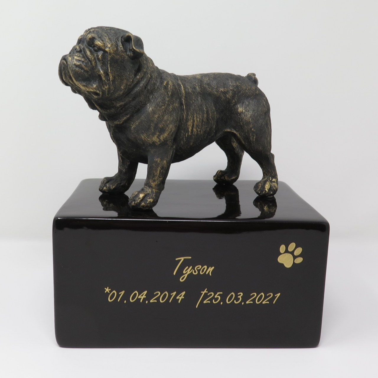 Englische Bulldogge Urne Designurne