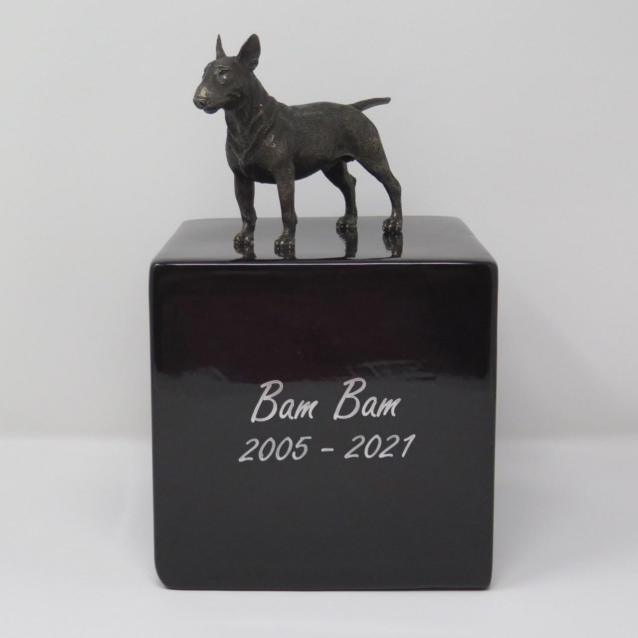 Bullterrier Urne Designurne