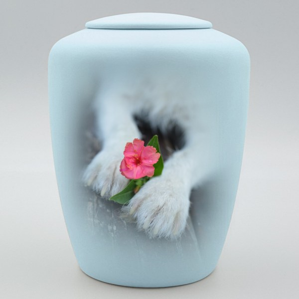 """Hundeurne mit Teelicht """"Blütenpfötchen"""""""