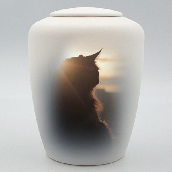 """Katzenurne mit Teelicht """"Aufpasser"""""""