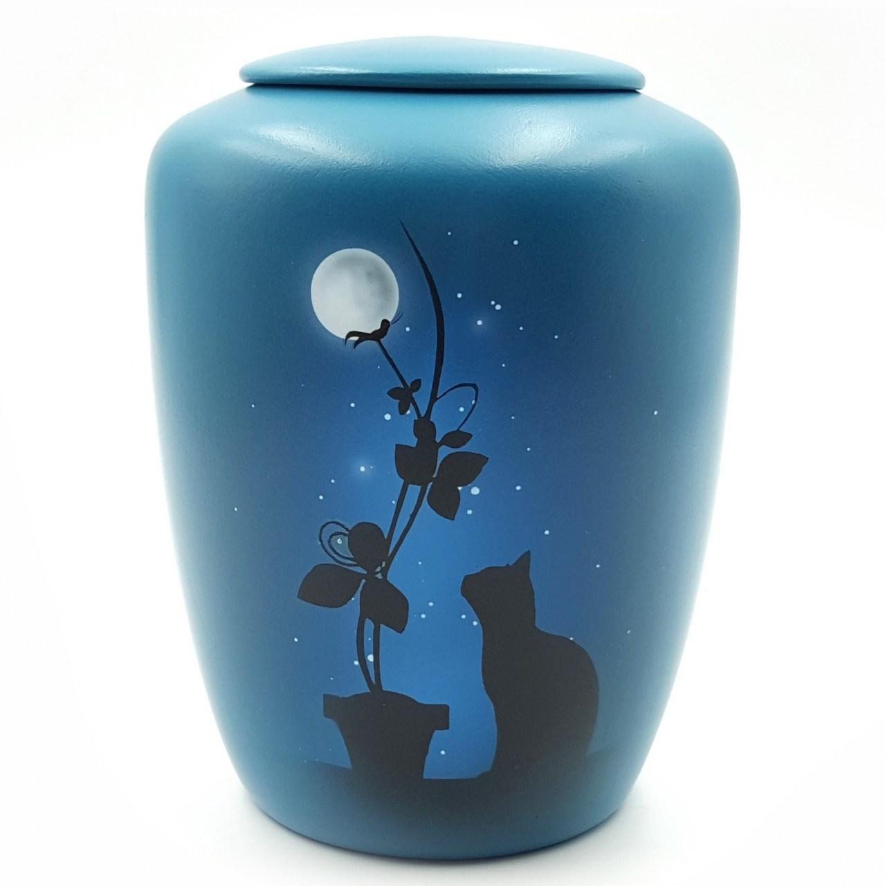 """Katzenurne mit Teelicht """"Paradiesblume"""""""