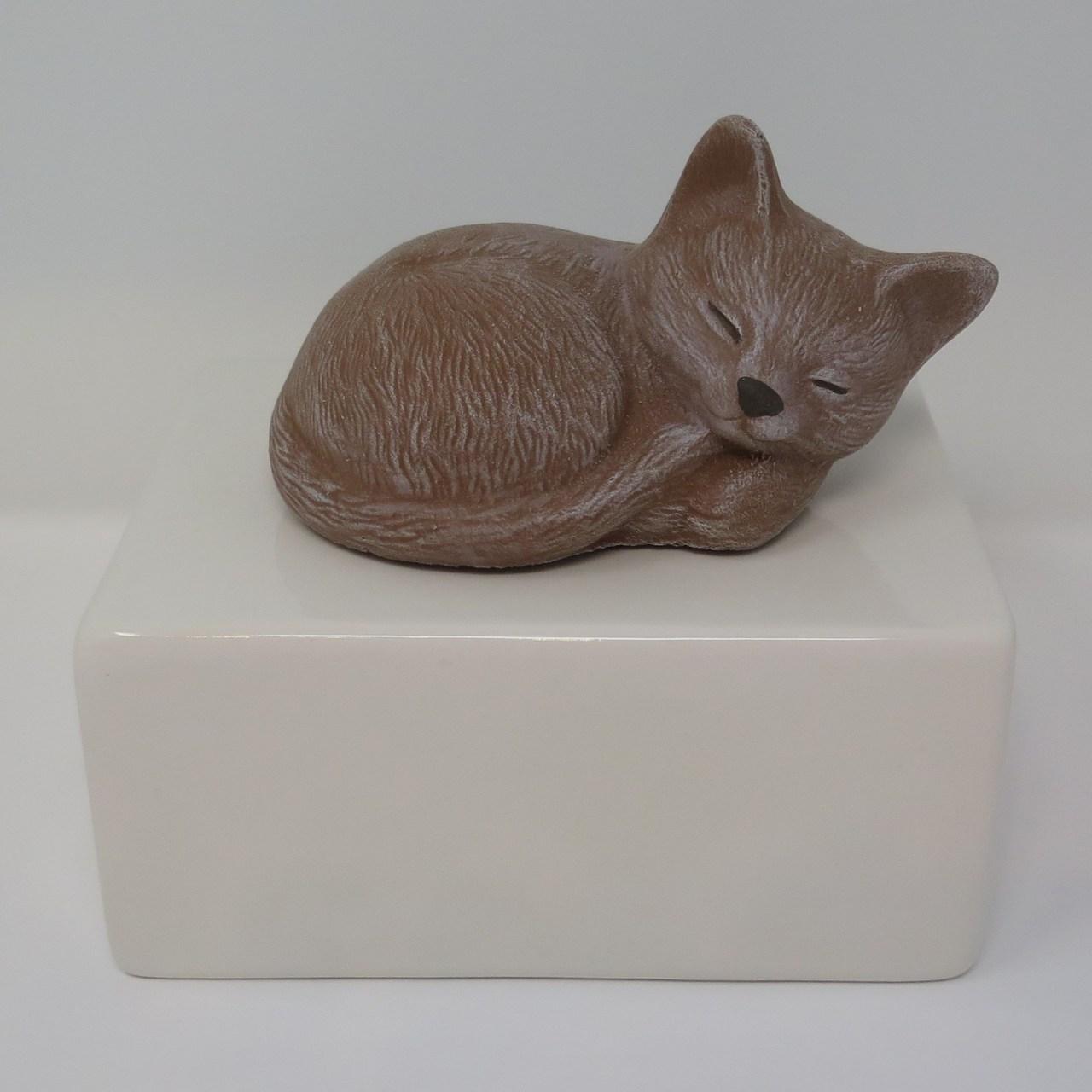 """Katzenurne """"Stonecat"""" Braun-Weiß"""