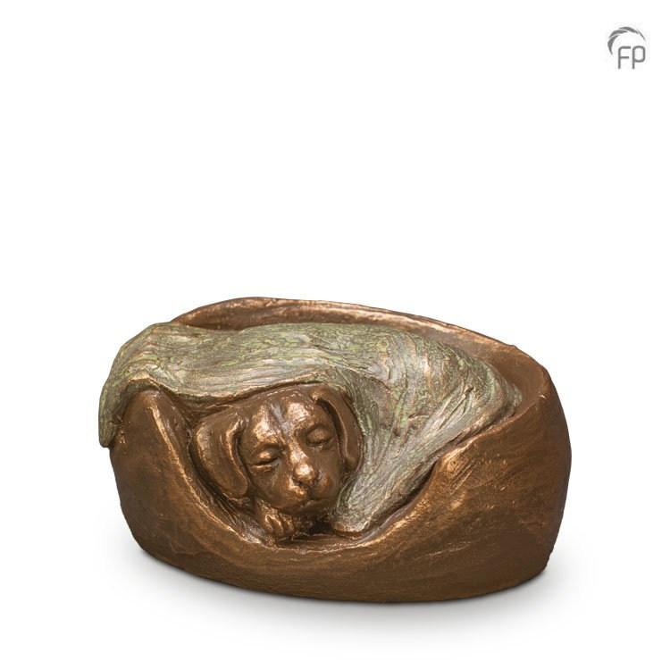 """Hundeurne """"schlafender Hund"""" - Künstlerurne"""