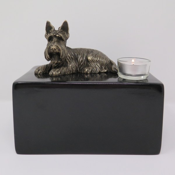 Scottish Terrier Urne mit Teelicht