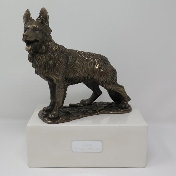 Deutscher Schäferhund Urne stehend Designurne