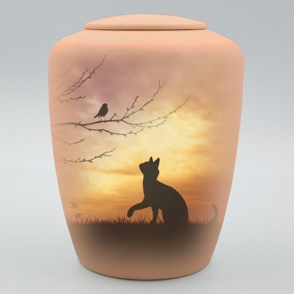 """Katzenurne mit Teelicht """"Auf der Pirsch"""""""