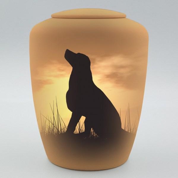 """Hundeurne mit Teelicht """"Himmelhund"""""""