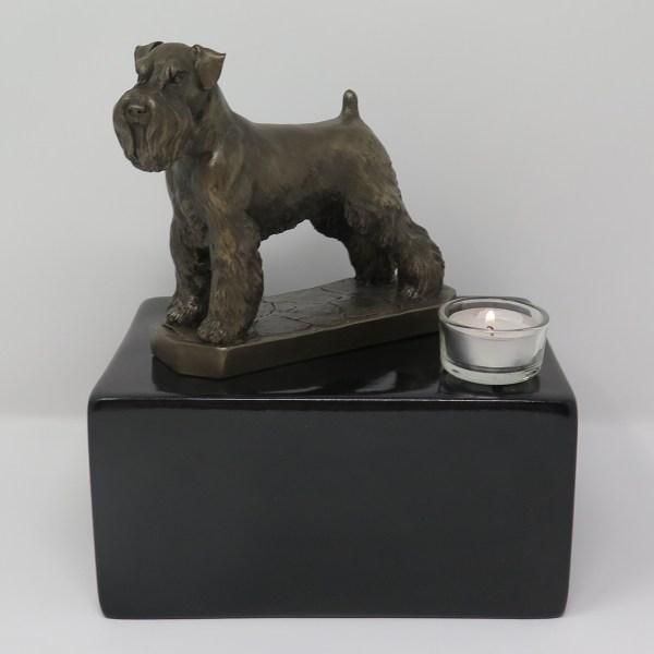 Schnauzer Urne mit Teelicht
