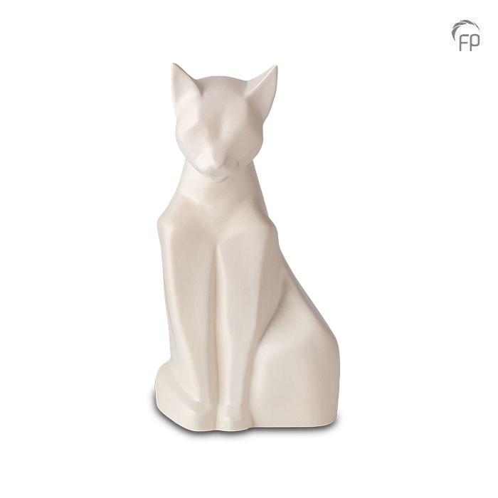 Katzenurne in Matt Weiß