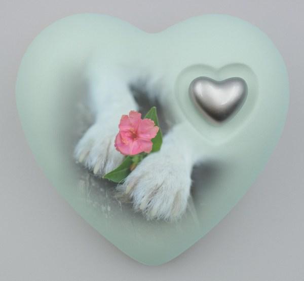"""Hundeurne Herz """"Blütenpfötchen"""""""