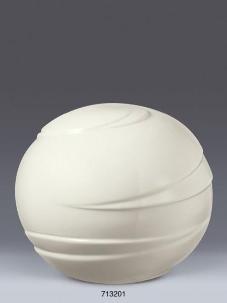 Porzellan-Kugelurne Weiß