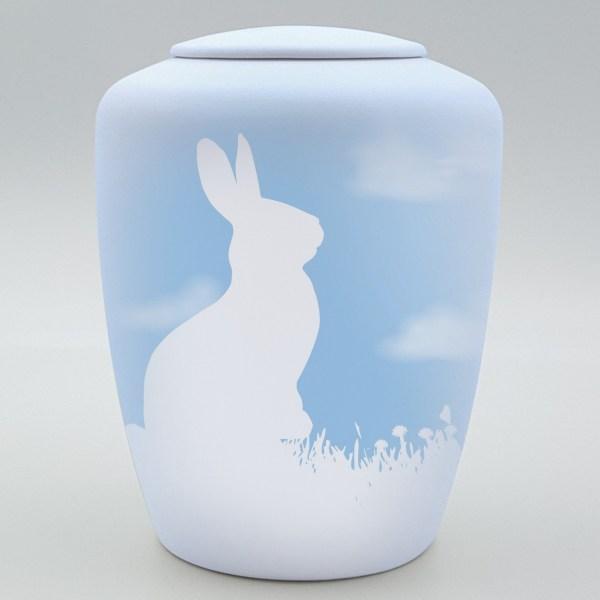 """Kaninchenurne mit Teelicht """"Wolkenkaninchen"""""""