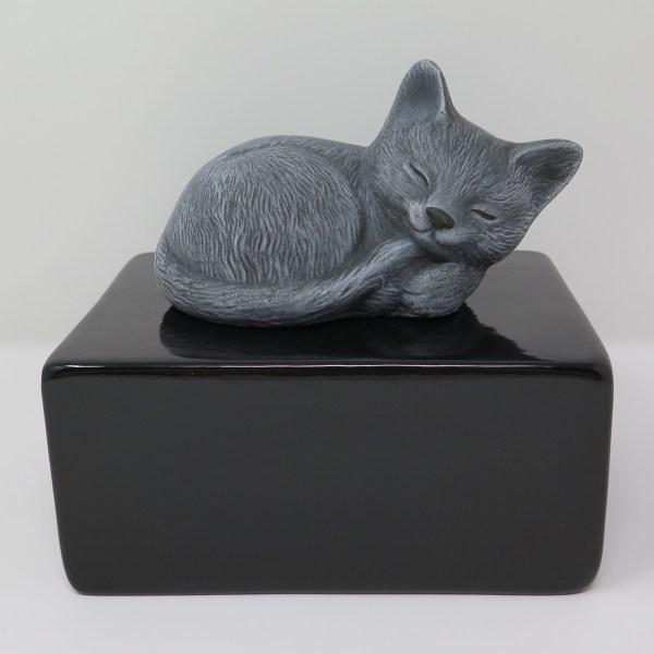 """Katzenurne """"Stonecat"""" Grau-Schwarz"""