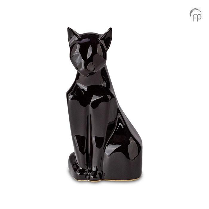 Katzenurne in Schwarz glänzend
