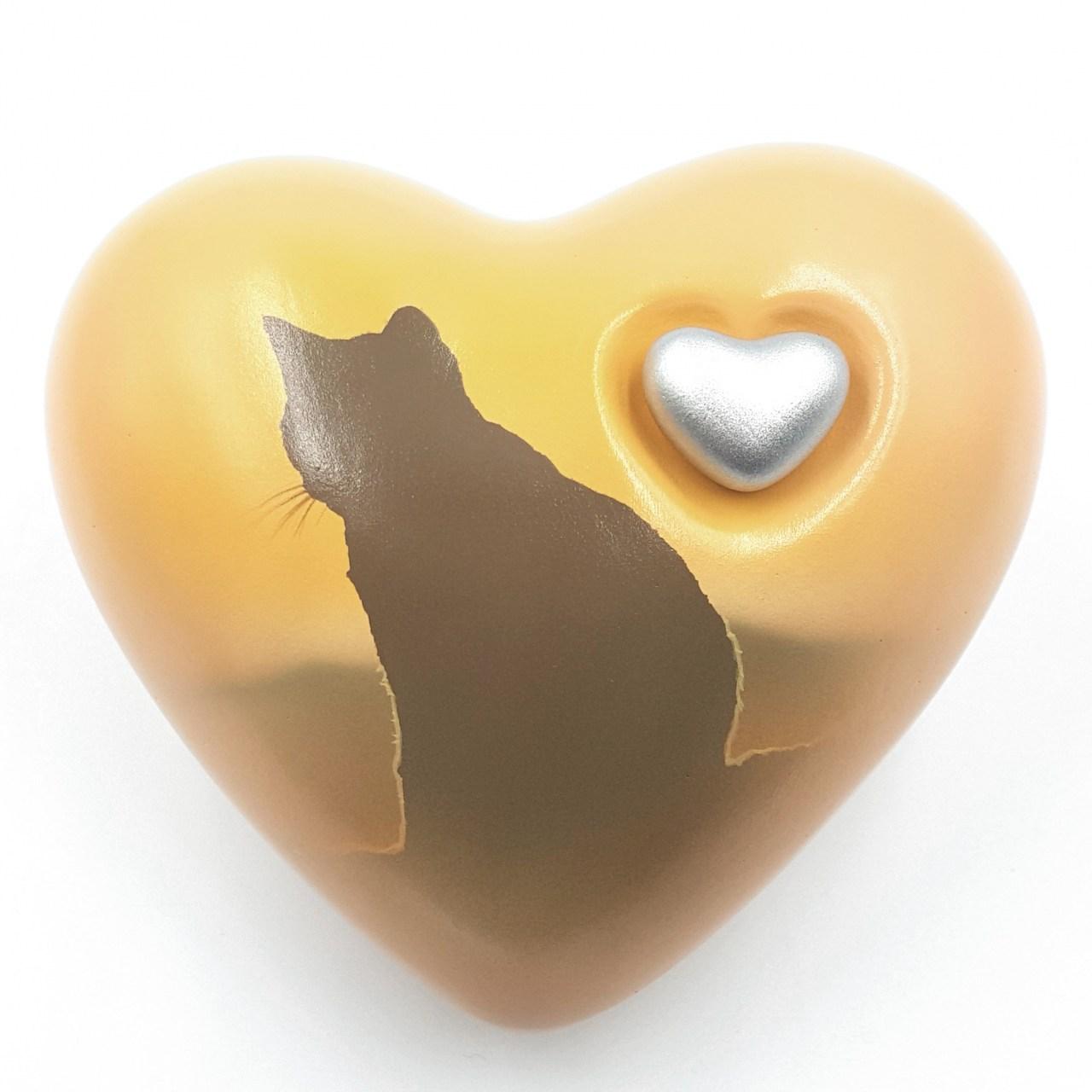 Katzenurne Herz UNIKAT Katze zum Horizont